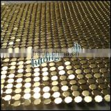 2014 modern design flexible metal mesh fabric/sequins table runner table cloth