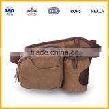 Factory Promotional Popular Design Canvas Waist Bag With Bottle Compartment for Outdoor, Running, Cycling