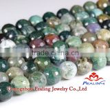 (SPL-011)Indian Agate 6mm Good Quality Cabochon Stones For Bracelet