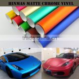 High Flexible Red Matt Chrome Ice Body Stickers Used Blue Matte Chrome 3m Car Vinyl Wrap