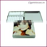 cigarette holder metal cigarette case with full printed beauty design to hold 9 cigarettes