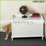 Function end table cat cage wood pet house Homex_BSCI Factory