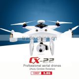 FPV 1080P HD Camera Dual GPS Circle Hovering UFO RTF CX-22A RC Drone Auto Follow me VS lily camera drone