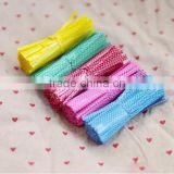 Coloured Polka Dot Plastic Twist Ties For Cake gift Pops Kit Sealing Cello Bags Plastic Bags