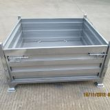 Logistics Stackable Steel Pallet Box Wire Container Heavy Duty