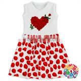 New Style Valentine's Day Kids Beautiful Model Dress Children Frocks Designs Boutique One Piece Baby Girls Party Dresses