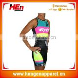 Hongen apparel Compression Sleeveless Custom Cycling Speed Race Tri Suit Triathlon Clothing