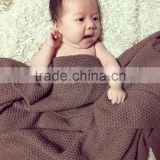 size 80 and 135cms 100% cotton waffle weave knitted breathable air conditioning newborn baby blanket