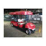 Red Color 48V 3KW Battery Operated Electric Utility Vehicle For Cargo / Luggage Transport