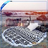 Printed Pattern and Handmade Technics Beach Towel and Throws Mandala Roudie Round Tassel Mandala Tapestries