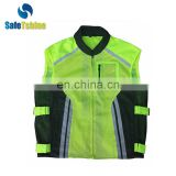 High visibility good reflective exercise sport safety vest for man