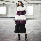 Winter real Fox Fur Vest For Women The latest women fashionable blue fox clothes