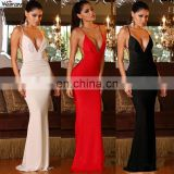 wholesale clothing Sexy v neck backless summer formal long maxi evening dresses long maxi evening dresses