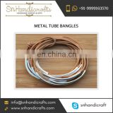 Mesmerizing Quality New Style Metal Tube Bangles for Bulk Buyer
