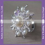 NR173 pearl decoration bulk wholesale napkin ring