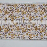 Print Fabric Hand Block Cotton Natural Indian Printed Material Cotton Print