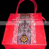 BATIK PRINT LEATHER BAG