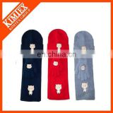 Fashion knitted scarf hat glove sets