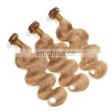 Golden supplier china factory direct sale high quality hair extension human hair weave blonde