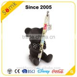 Hot sale animal design bear shape custom plastic pen & pen holder                                                                         Quality Choice