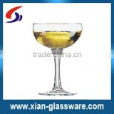 Promotional wholesale high quality coupe champagne glasses/cheap large champagne glass/custom shape champagne glass