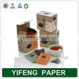 2016 deluxe matt black tea box recycled paper stamping logo packing cardboard boxes wholesale