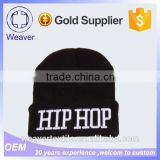 High Quality Custom Color Fleece Lining 3D Embroidery Knitted Beanie Hat with for Wholesale