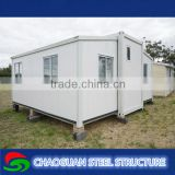 Beautiful Small Square Green and White China Steel Mavable Prefabricated Office Container House Price Shop
