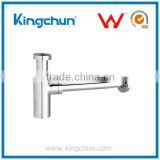 KingChun Free Samples drain pump chrome bottle trap for bathroom fittings(J220)