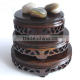 3 pcs Oval shelves in a set for Jade base, Wooden carving, Rosewood carving