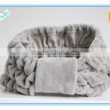 Microfiber terry headband with bow holds hair back when washing your face towel headband elastic bath scrunchie
