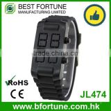 JL474 Limited edition stainless steel case back digital silicone bracelet watch
