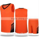 China wholesale custom basketball uniform 2016 high quality basketball jersey color orange