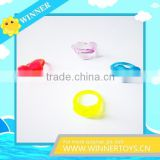 Children plastic heart shaped finger ring