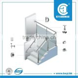 stainless steel handrails and railing glass clamp fittings