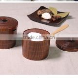 high quality wooden box with lid in packing box,high quality cardboard box,wood condiment box,condiment box