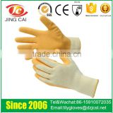 latex garden work gloves manufacturer in China / cheap working safety gloves latex gloves