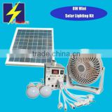 8W solar house kits 8W solar panel 2W LED 4AH Battery work with USB fan,LED,mobile phone charging                                                                         Quality Choice