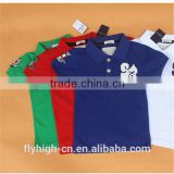 top quality custom wholesale cotton polo t shirt for boys