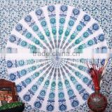 NEW Indian Mandala Round Hippy Boho Cotton Tablecloth Blanket Throw Yoga Mat Wall Tapestry Beach Towel