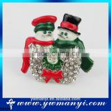 Wholesale Brooch Inspired Snowman Broom Enamel Rhinestone Brooches Pins Bulk Buy From China B0484