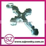 Fashion men cross design stainless steel necklace pendant