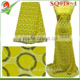 Touch good 5 yards African swiss lace fabric yellow SQ018-1