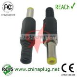 Enviromental Friendly Colorful Nikel or Gold plated dc power plug female 5.5mmx2.5mm connector with 13.5mm Barrel