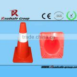 2013 RSG Good quality and excellent design flexible traffic security pvc fluorescent reflective cone