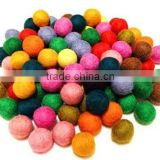 New Chrismas Handmade Felt Balls/Multi color decorative felt balls