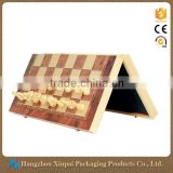 Unique Design Foldable Wooden Gift Board Chess Set Box