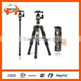 Portable Tripod Monopod Q-555+ Ball Head+ Travel Bag For Nikon Canon Sony DSLR
