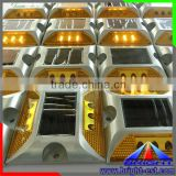 Hot Sell!!6LEDs Solar LED dock light,flash LED road stud,2sides reflective LED road marker light