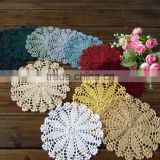 18cm Hand crochet flower doilies,Decorative table round doilies for sale